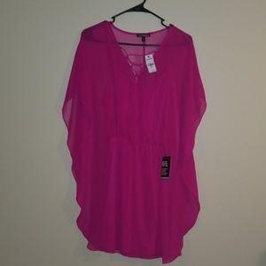 Express Pink Spring Dress Size Medium